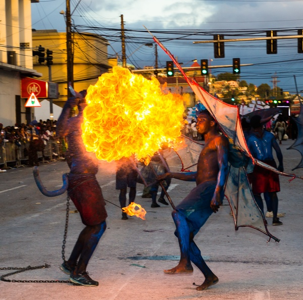 2017 Trinidad Carnival Tuesday, Blue Devil Fire Breahers
