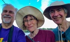 Me, Janet, Steve at the Connecticut River Dike, Hadley MA, July 1, 2019